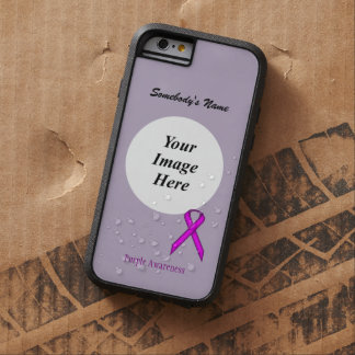 Purple Standard Ribbon Tmpl by Kenneth Yoncich Tough Xtreme iPhone 6 Case