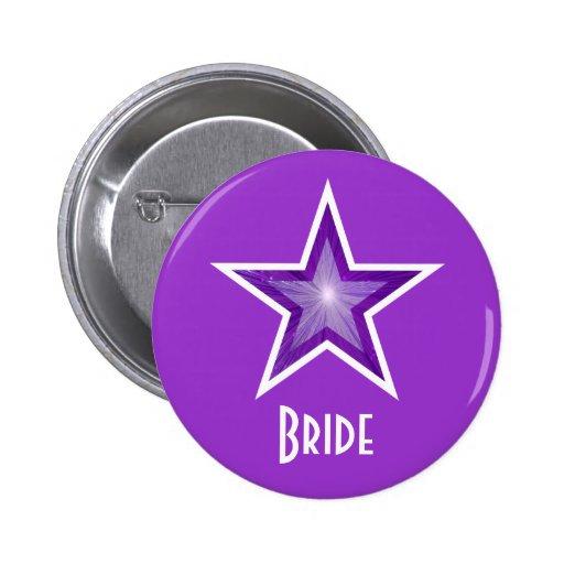Purple Star 'Bride' button purple