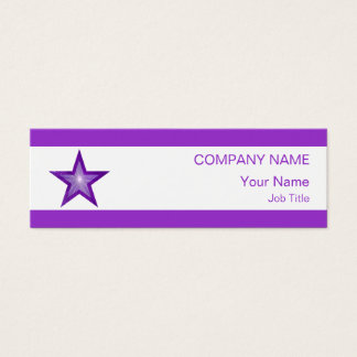 Purple Star business card white stripe skinny