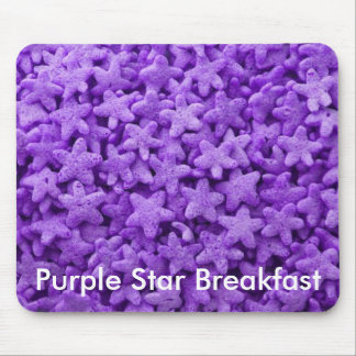 Purple Star Cereal Mouse Pad