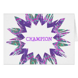 PURPLE Star:  CHAMPION Script Card