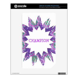 PURPLE Star:  CHAMPION Script NOOK Color Decals