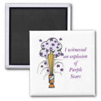 Purple Star Explosion Magnet