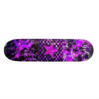 Purple Star Explosion Skate Board Deck