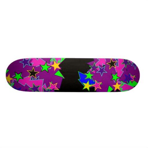 Purple Star Fantasy Skateboard Deck