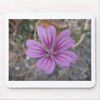 Purple star flower mouse pad