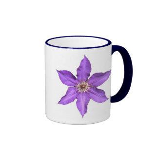 Purple Star Flower Ringer Coffee Mug