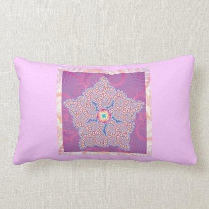 Purple Star Fractal Pattern Pillows