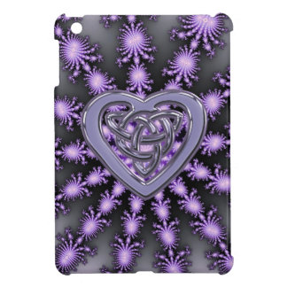 Purple Star Fractal with Celtic Heart Knot iPad Mini Case
