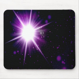 Purple star galaxy mouse pad