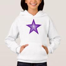Purple Star kids hoodie