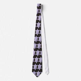 purple star lambda on a black background tie