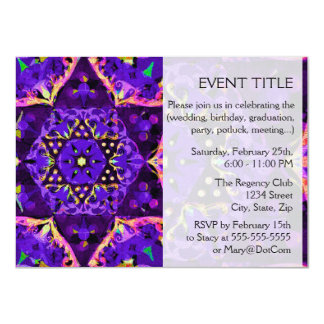 "Purple Star Mandala 4.5"" X 6.25"" Invitation Card"