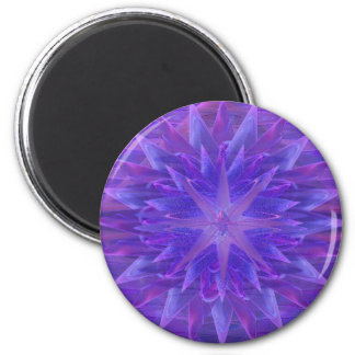 Purple Star Mandala Magnet