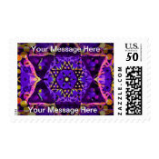 Purple Star Mandala Postage (<em>$24.20</em>)