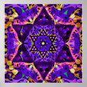 Purple Star Mandala Poster (<em>$18.75</em>)