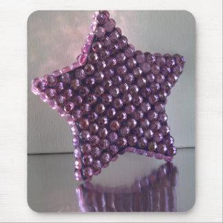 Purple Star Mouse Pad