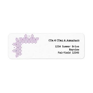 Purple Star of David jewish wedding Custom Return Address Label