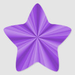 Purple Star Optical Illusion Star Sticker