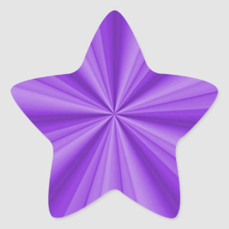 Purple Star Optical Illusion Stickers