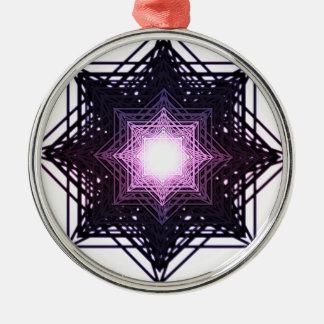 Purple Star Christmas Tree Ornaments