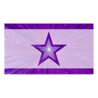 Purple Star pale business card template