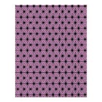 purple star pattern with black line flyer