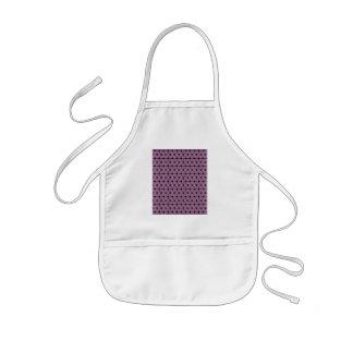 purple star pattern with black line kids' apron