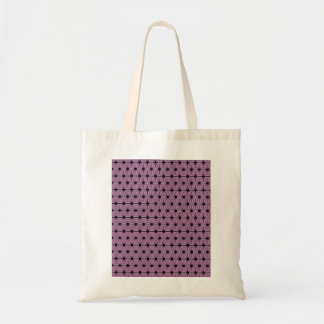 purple star pattern with black line tote bag