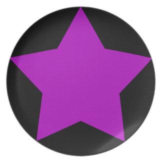 PURPLE STAR PLATE