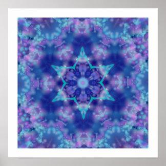 Purple Star Poster
