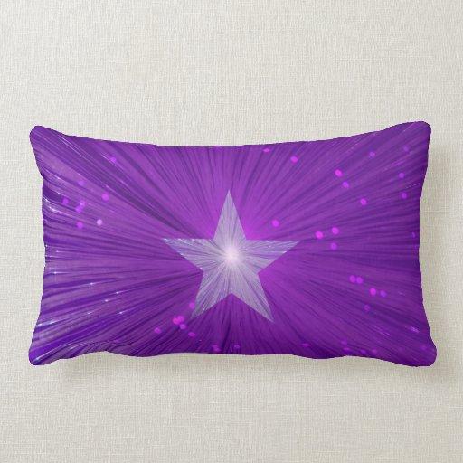 Purple Star printed throw pillow