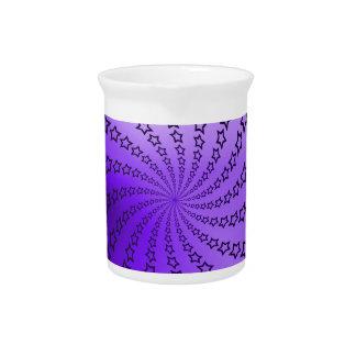 Purple Star Spiral Beverage Pitchers