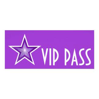 Purple Star 'VIP PASS' invitation purple long