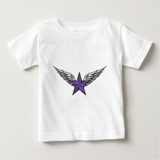 purple star with wings baby T-Shirt