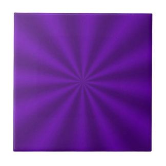 Purple Starburst Ceramic Tile