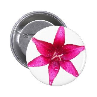 Purple starburst Lily 2 Inch Round Button