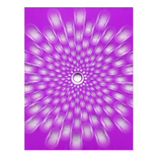 Purple Starburst - Mandala - love postcard