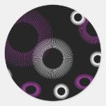 Purple Starburst Stickers