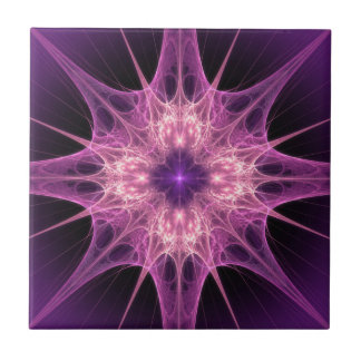 Purple Starburst Tile
