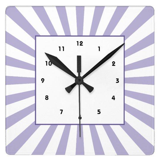 Purple Starburst Wall Clock