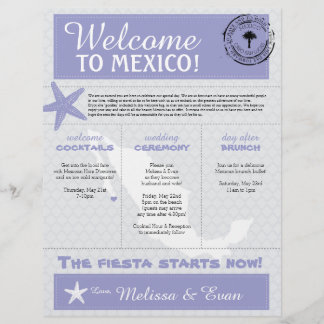 Purple Starfish Cabo Mexico Welcome Letter