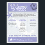 "Purple Starfish Cabo Mexico Welcome Letter Letterhead<br><div class=""desc"">Have fun with your destination themed wedding. Palm Tree, Starfish and Map of Mexico in colors of Colors are in White, Light Gray and Lavender Purple. Lavender heart located over the Cabo San Lucas area. If the color scheme is not what you wanted please email paula@labellarue.com BEFORE YOU CUSTOMIZE OR...</div>"