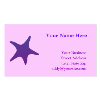 Purple Starfish Double-Sided Standard Business Cards (Pack Of 100)