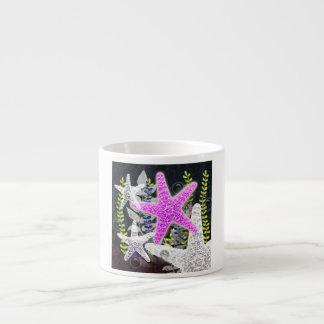 Purple starfish flora and fauna foliage nautilus espresso cup