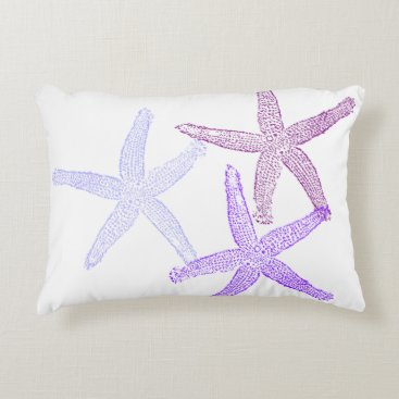 Beach Themed Purple starfish pillow
