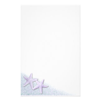 Purple Starfish stationery