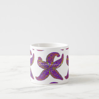 purple starfish Thunder_Cove any color Espresso Cup