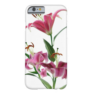 Purple Stargazer Lily White Background Barely There iPhone 6 Case
