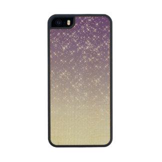 Purple Starlight Sparkles Carved® Maple iPhone 5 Slim Case